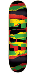 Flip Odyssey Torn Rasta Team - Multi - 32.0in x 8.13in - Skateboard Deck