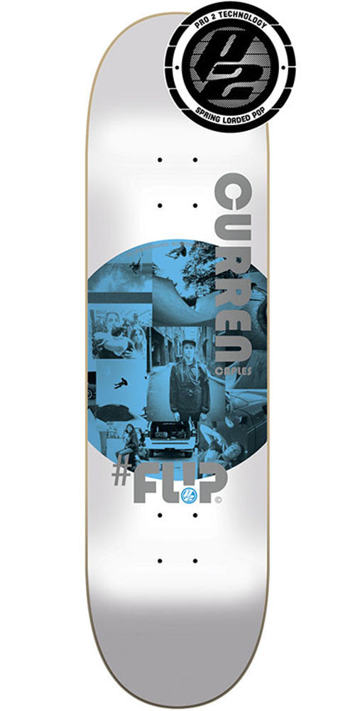 Flip Caples Insta Art Pro P2 - White - 32.0in x 8.13in - Skateboard Deck