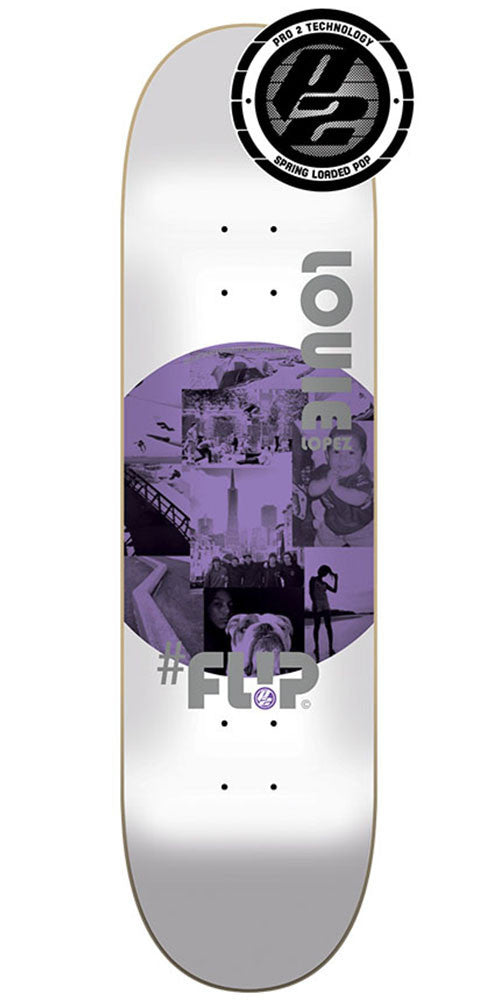 Flip Lopez Insta Art Pro P2 - White - 32.31in x 8.25in - Skateboard Deck