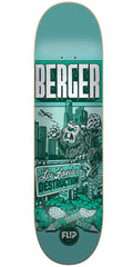Flip Berger Comix Pro - Teal - 31.50in x 8.00in - Skateboard Deck