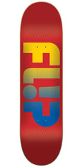 Flip Team Odyssey Faded Team - Red - 8.50in x 32.75in - Skateboard Deck