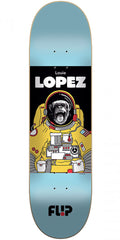 Flip Lopez Space Monkey - Aqua - 8.25in x 32.31in - Skateboard Deck
