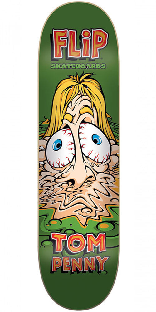 Flip Penny Meltdown - Green - 7.81in x 31.5in - Skateboard Deck