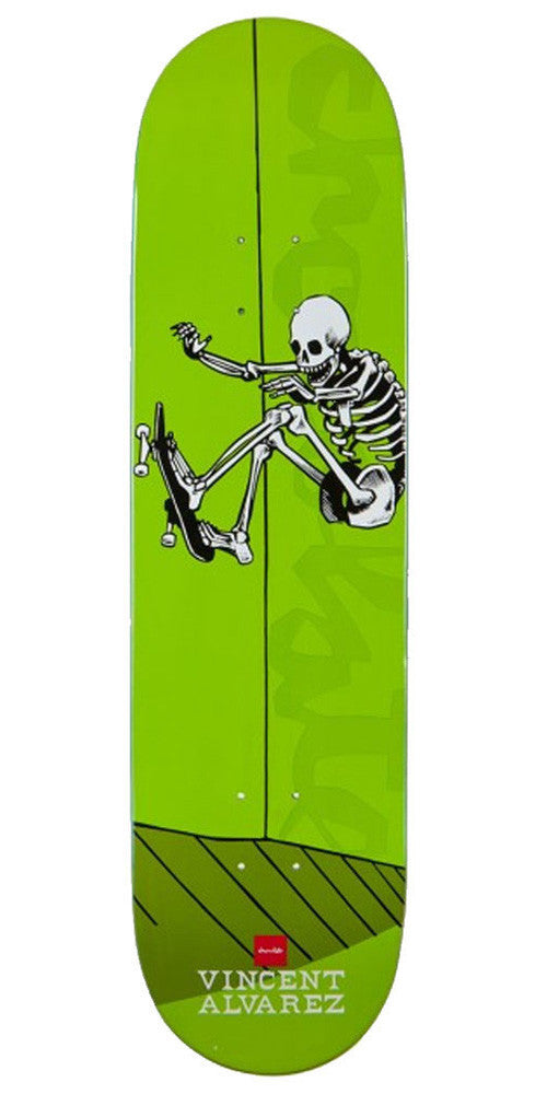 Chocolate Alvarez Day of Shred - Green - 8.25in - Skateboard Deck