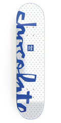 Chocolate Berle Floater Chunk - White - 8.5in x 32.25in - Skateboard Deck