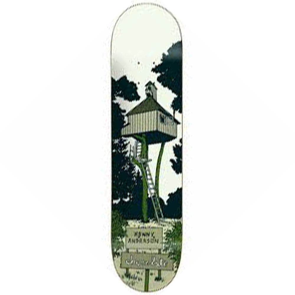 Chocolate Anderson Tree House - White - 8.125in x 31.625in - Skateboard Deck