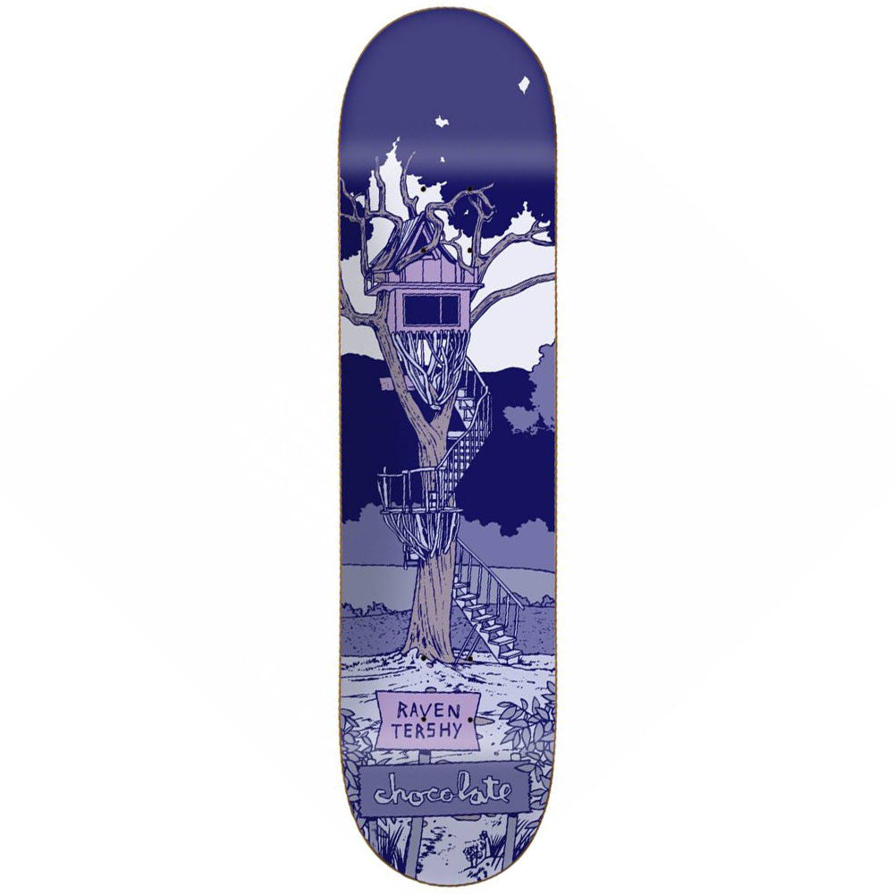 Chocolate Tershy Tree House - Blue - 8.375in x 31.75in - Skateboard Deck