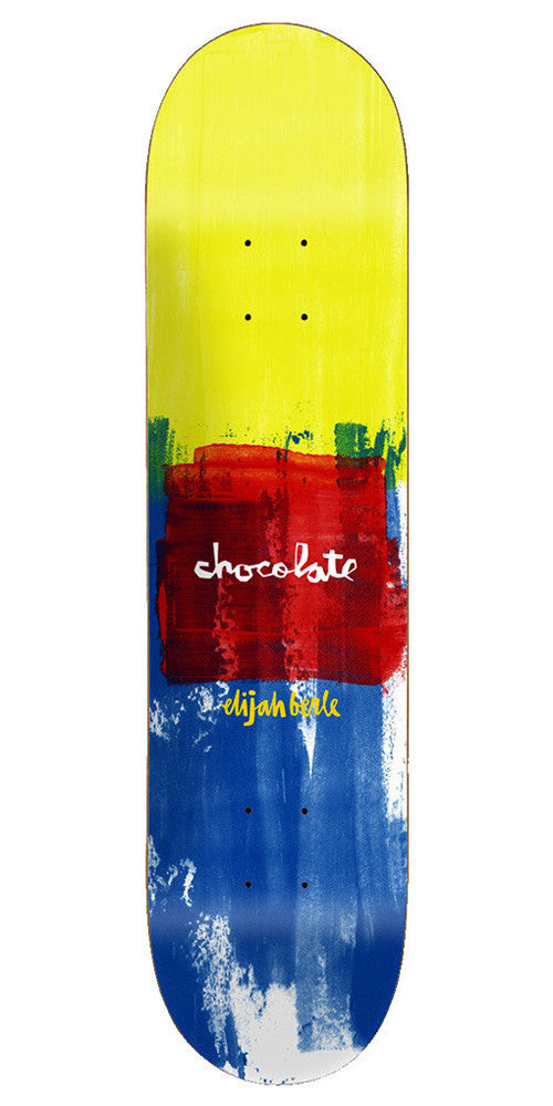 Chocolate Berle Subtle Square - Yellow/Red/Blue - 8.0in x 31.5in - Skateboard Deck