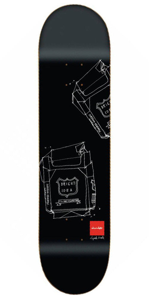 Chocolate Berle Matte Sketch - Black - 8.125in x 31.625in - Skateboard Deck