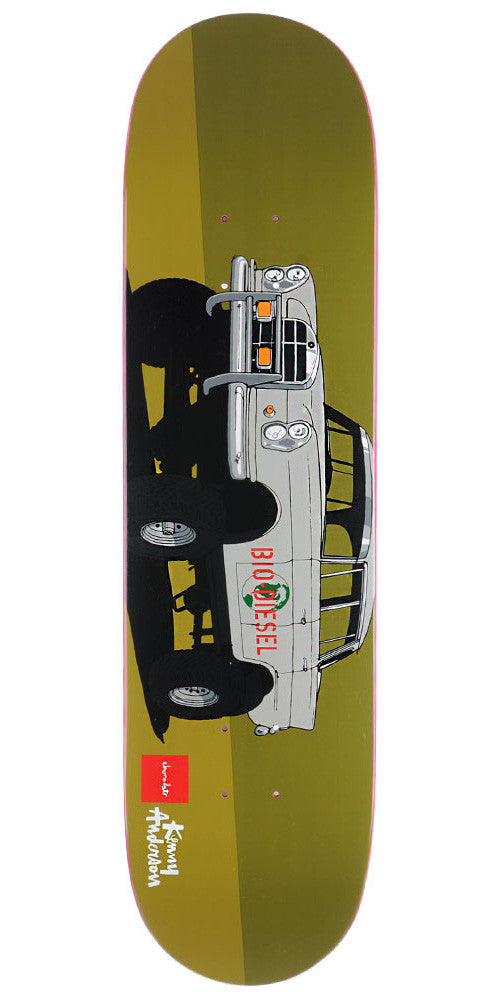 Chocolate Anderson Monster Trucks - Olive - 8.125in x 31.625in - Skateboard Deck