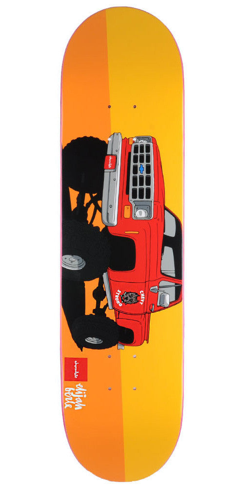 Chocolate Berle Monster Trucks - Orange - 8.125in x 31.625in - Skateboard Deck