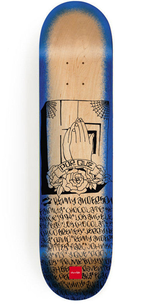 Chocolate Anderson Lupitas - Natural/Blue - 8.125in x 31.625in - Skateboard Deck