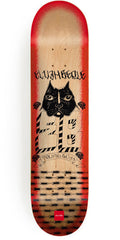 Chocolate Berle Lupitas - Natural/Red - 8.125in x 31.625in - Skateboard Deck
