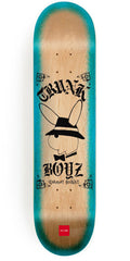 Chocolate Alvarez Lupitas - Natural/Teal - 8.0in x 31.5in - Skateboard Deck