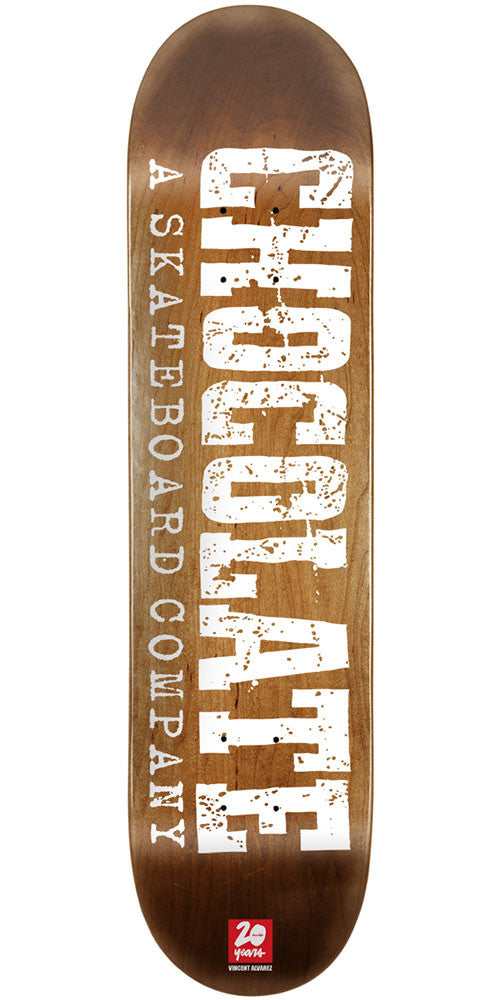 Chocolate Alvarez Heritage - Brown - 8.25in x 32.0in - Skateboard Deck