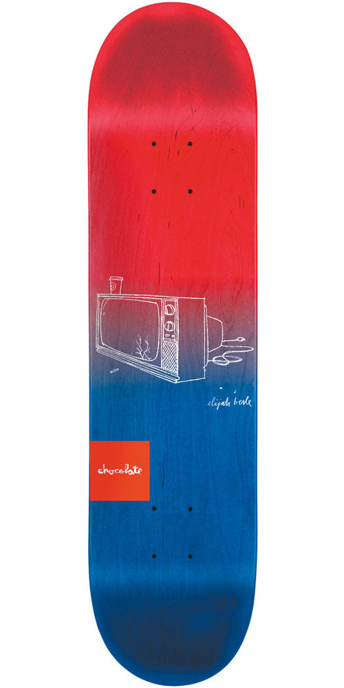 Chocolate Berle Sketch Fade - Red/Blue - 8.5in x 32.25in - Skateboard Deck