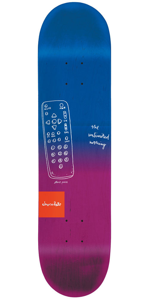 Chocolate Perez Sketch Fade - Blue/Purple - 8.25in x 32.0in - Skateboard Deck