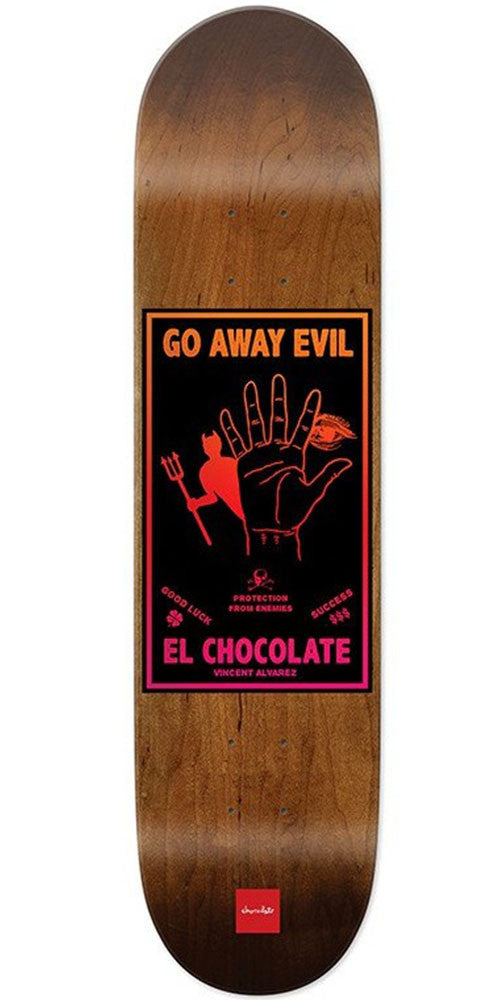 Chocolate Alvarez Black Magic - Brown - 8.0in x 31.5in - Skateboard Deck