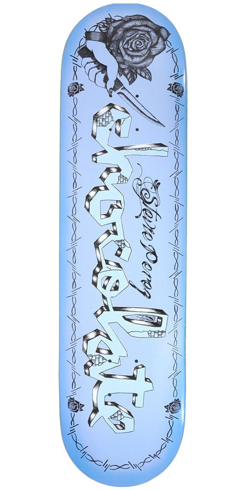 Chocolate Stevie Perez Lupitas Chunk - Blue - 8.00in x 31.875in - Skateboard Deck