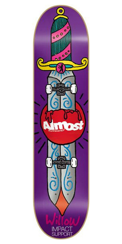 Almost Skate Knife Impact Willow - Purple - 8.1 - Skateboard Deck