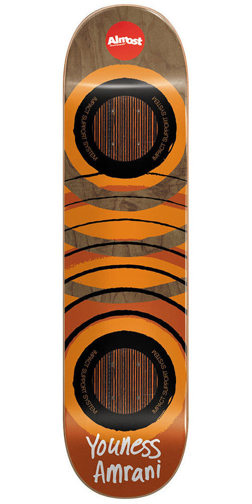 Almost Youness Amrani Royal Ripper Impact - Brown/Orange - 8.0 - Skateboard Deck
