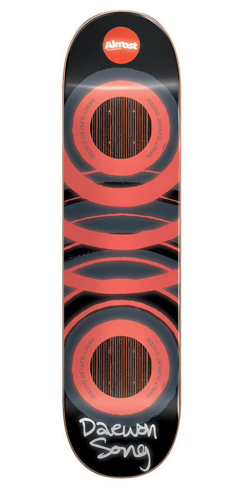 Almost Daewon Glow In The Dark Impact - Orange - 8.0 - Skateboard Deck