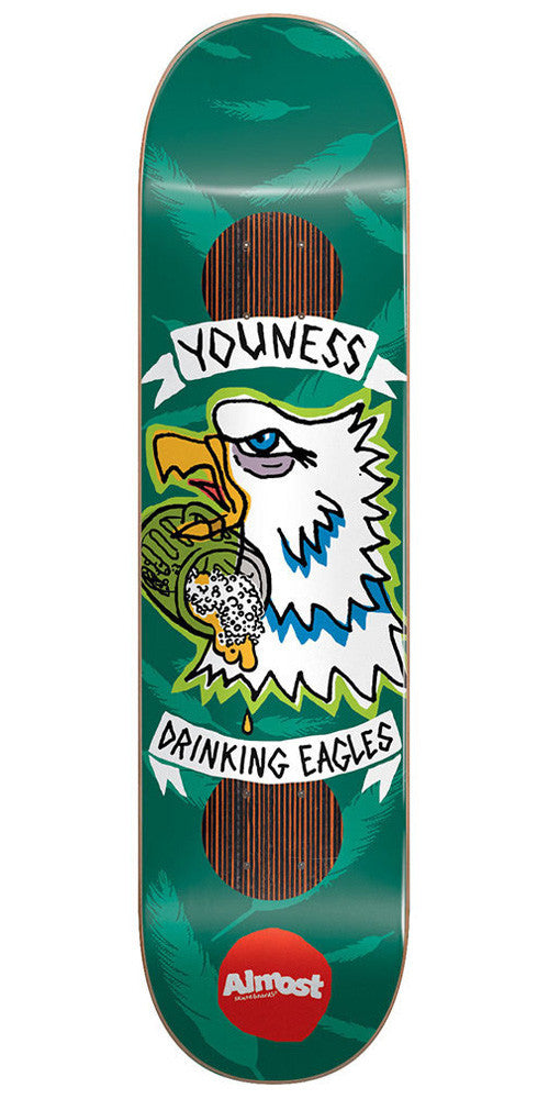Almost Youness Amrani Jail Tats Impact Plus - Green - 8.25 - Skateboard Deck