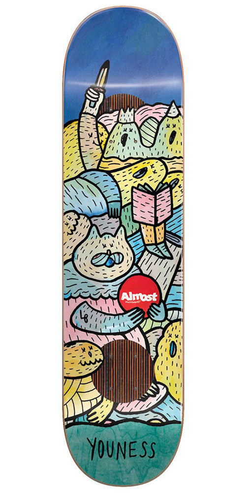 Almost Youness Amrani Lucas Beaufort Impact Plus - Multi - 8.25in - Skateboard Deck