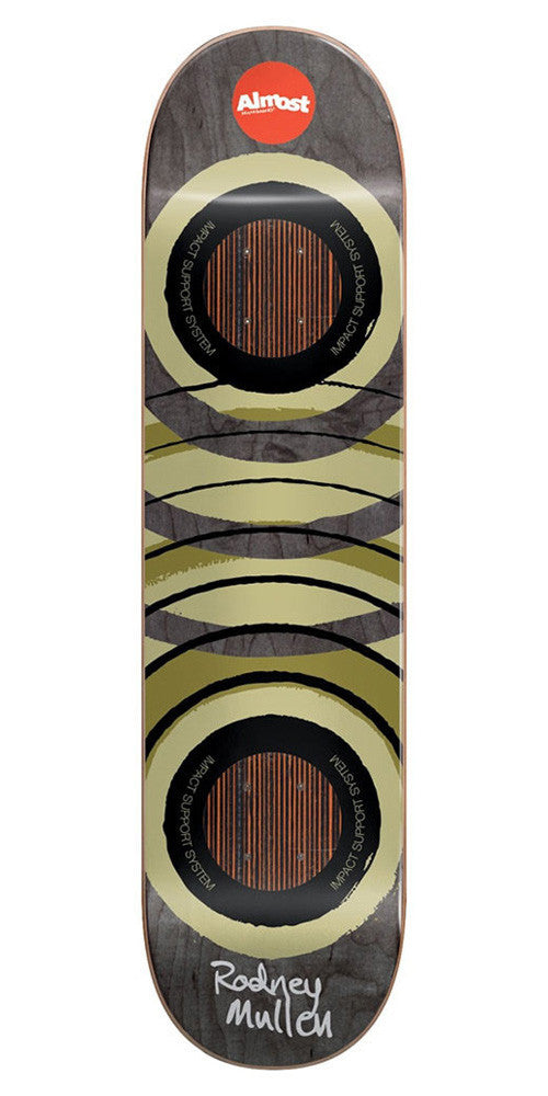 Almost Rodney Mullen Royal Rings Impact - Black/Olive - 7.75in - Skateboard Deck