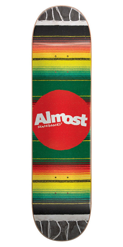 Almost Mexican Blanket R7 - Rasta - 8.0in - Skateboard Deck