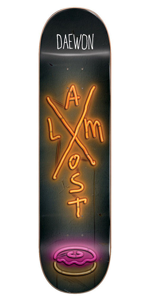 Almost Daewon Song X-Neon R7 - Black/Orange - 7.75in - Skateboard Deck