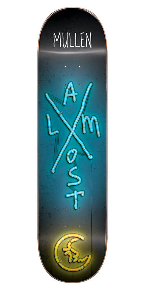 Almost Rodney Mullen X-Neon R7 - Black/Teal - 8.0in - Skateboard Deck