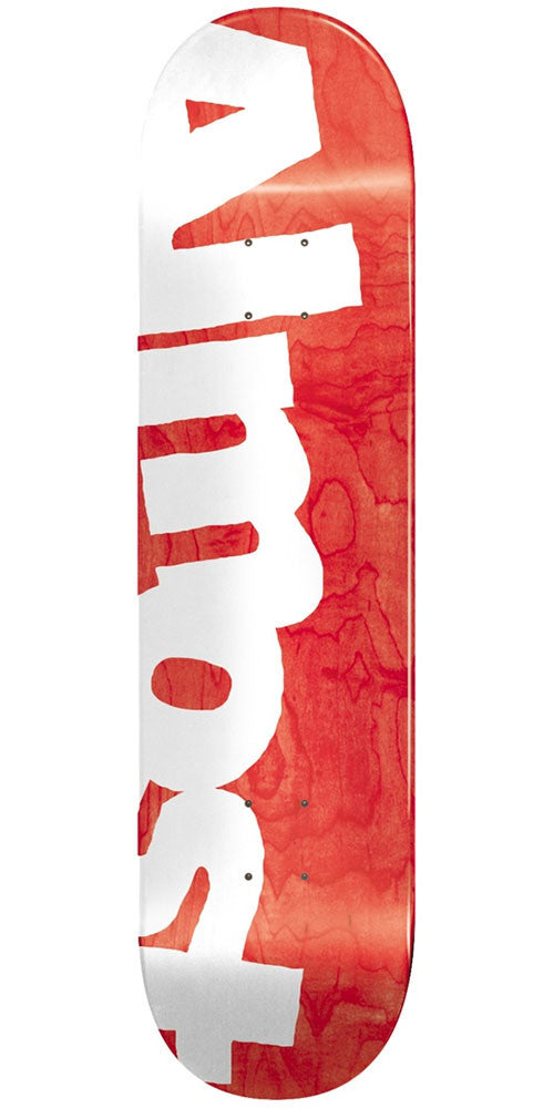 Almost Side Pipe HYP - Red - 8.25in - Skateboard Deck