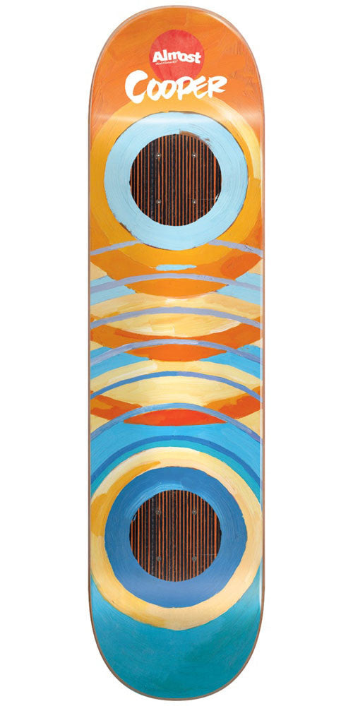 Almost Cooper Wilt Lotti Painted Rings Impact - Orange/Blue - 8.25in - Skateboard Deck