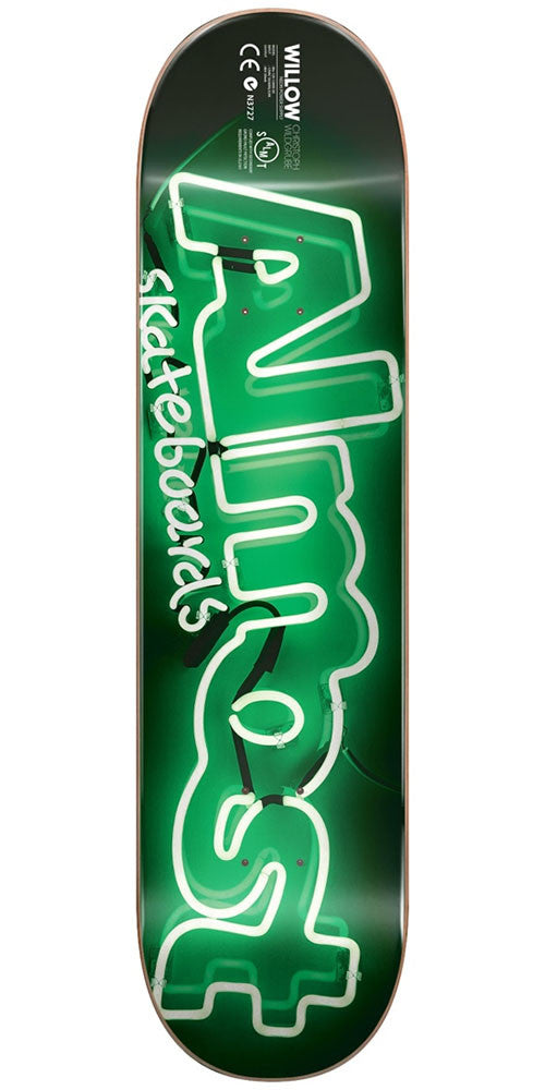 Almost Willow Neon Power Supply Impact Light - Green - 8.0in - Skateboard Deck