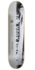 Zoo York Deily Criminology - White/Black - 8.37 - Skateboard Deck