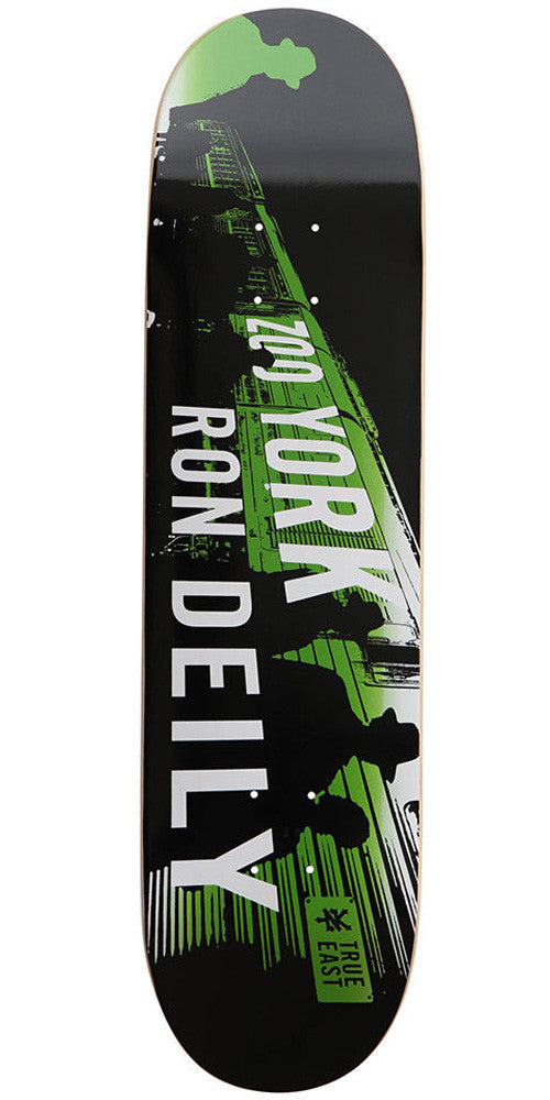 Zoo York Deily Spray Fade - Black/Green - 8.12 - Skateboard Deck