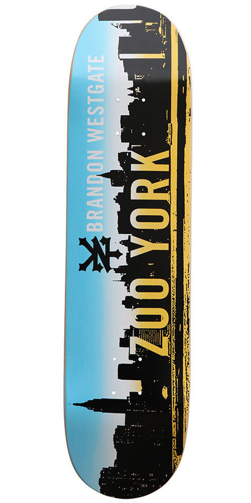 Zoo York Westgate Spray Fade - Black/Blue - 8.37 - Skateboard Deck