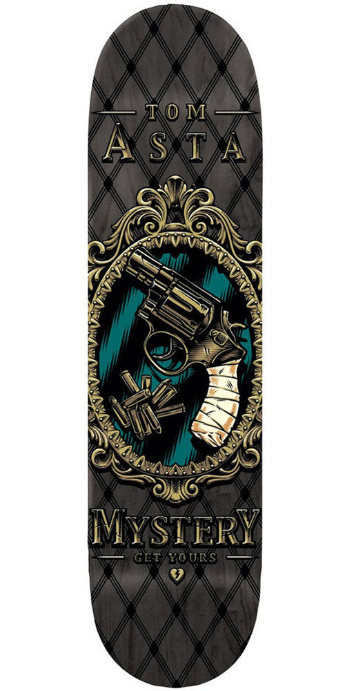 Mystery Asta Pistol - Black/Grey - 7.875 - Skateboard Deck
