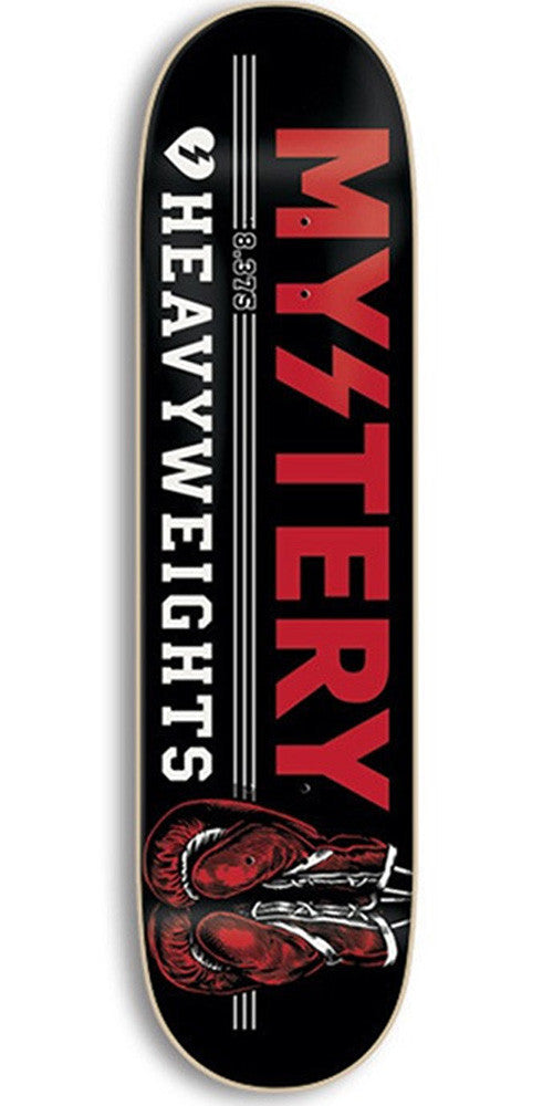 Mystery Heavyweights - Black - 8.375 - Skateboard Deck