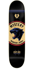 Mystery James Hardgood Badge - Black - 8.0in - Skateboard Deck