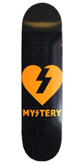 Mystery Heart - Black/Neon Orange - 8.0in - Skateboard Deck