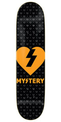 Mystery Heart - Black/Neon Orange - 8.125in - Skateboard Deck