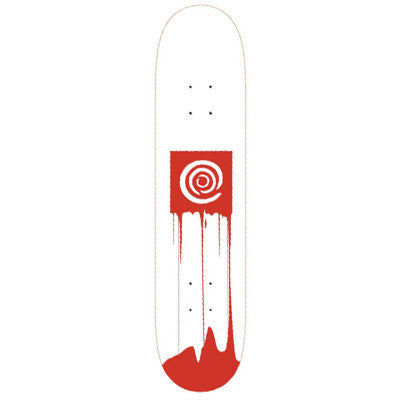 Blemished Action Village Box Drip - White - 7.5 - Skateboard Deck