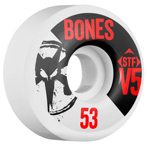 Bones STF V5 Series - White - 53mm 83b - Skateboard Wheels (Set of 4)