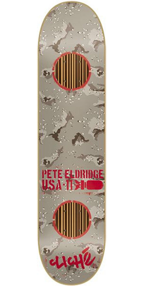 Cliche Camo Impact Eldridge - Grey Camo/Red - 7.9in - Skateboard Deck
