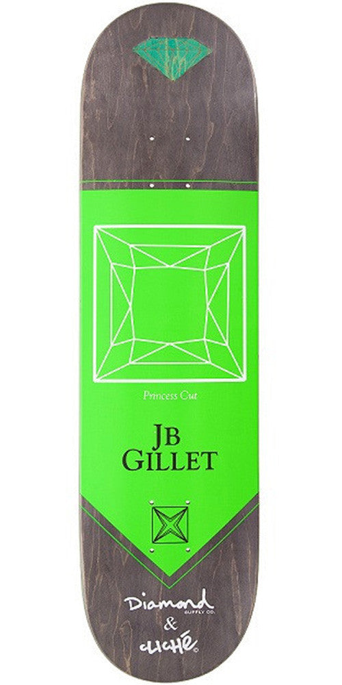 Cliche Gillet Diamond Pro R7 - Green - 8.1 - Skateboard Deck