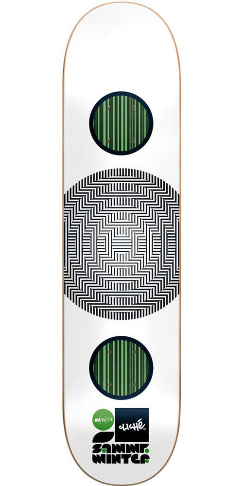 Cliche Sammy Winter Linear Series Impact Plus - White - 8.3 - Skateboard Deck