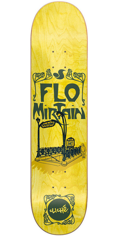 Cliche Flo Mirtain Metropolitain DVS R7 - Yellow - 8.1 - Skateboard Deck