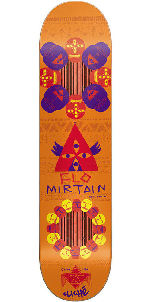 Cliche Flo Mirtain Gypsy Life Impact - Orange - 7.75 - Skateboard Deck
